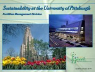 Sustainability at the University of Pittsburgh - Facilities Management