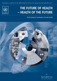 The future of health - Extranet Systems - World Health Organization