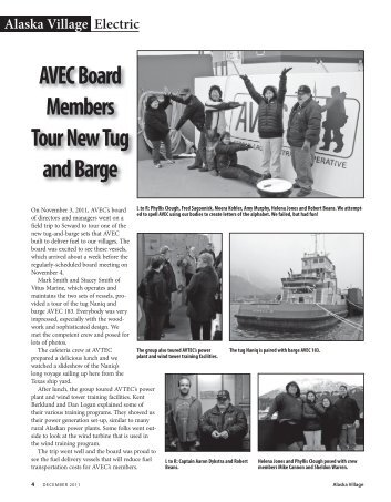 AVEC Board Members Tour New Tug and Barge - Alaska Village ...