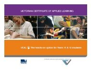 David Gallagher - Why has VCAL been so successful?
