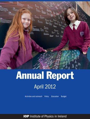 IOP in Ireland Annual Report 2012 (PDF, 2 MB) - The Institute of ...