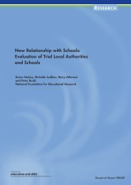 New Relationship with Schools - Communities and Local Government