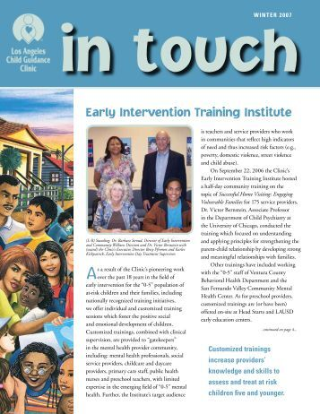 Early Intervention Training Institute - Los Angeles Child Guidance ...
