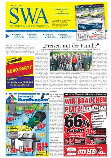 WIR BRAUCHEN PLATZ! - Siegerländer Wochen-Anzeiger