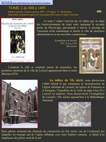 en savoir plus sur le contenu du tome 2 - L'association des Amis de ...