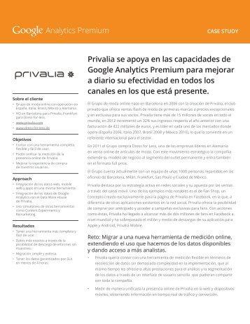 Privalia se apoya en las capacidades de Google Analytics Premium ...
