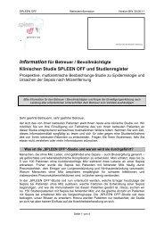 Information für Betreuer / Bevollmächtigte Klinischen Studie ...