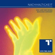 Nachhaltigkeit - Hypo Tirol Bank AG