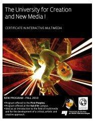 Certificate in Interactive Multimedia - UQAT.ca