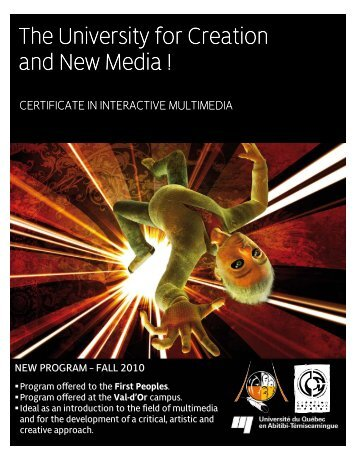 Certificate in Interactive Multimedia - UQAT.ca