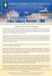 Cruise Industry Overview 2006 (448 kb) - The Florida-Caribbean ...