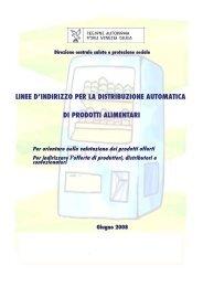 Linee d'indirizzo per la distribuzione automatica di ... - In adolescenza