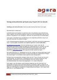 Verslag - Agora landelijk ondersteuningspunt palliatieve zorg
