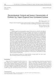 Physicochemical, Textural and Sensory Characteristics of Probiotic ...