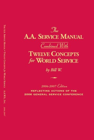 The A.A. service manual - Twelve concepts of service - 2Travel.org