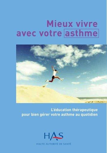 Mieux vivre avec votre asthme - Haute Autorité de Santé