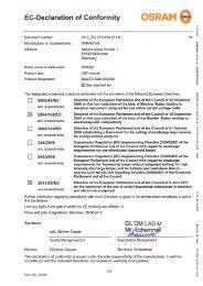 EC-Declaration of Conformity - Osram