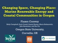 Changing Space, Changing Place - Oregon State University
