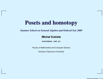Posets and homotopy
