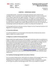 Entreposage humide - Agence canadienne d'inspection des aliments