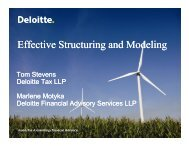 Effective Structuring and Modeling - Deloitte