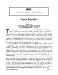 Bashing Bakersfield, an historical look back - Gilbertgia.com