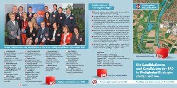 Die Kandidatinnen und Kandidaten der SPD in Bietigheim ...