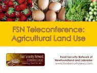 Food Security - The Food Security Network of Newfoundland and ...