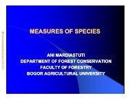 Measures of Species Diversity