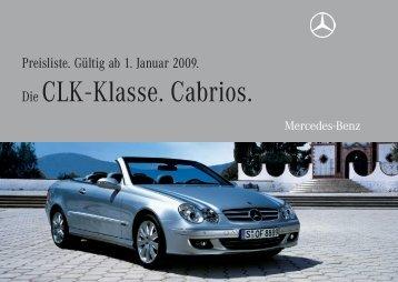 Die CLK - Klasse. Cabrios. - Preislisten