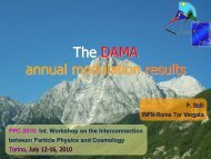 the DAMA annual modulation results - PPC 2010 - Infn