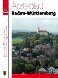 Ärzteblatt Baden-Württemberg Ausgabe 11/2006