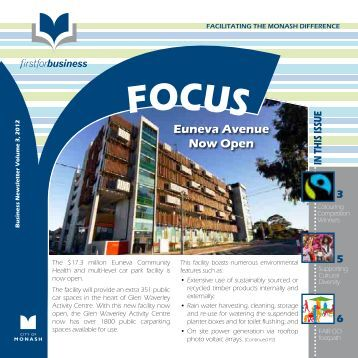Business Newsletter - Issue 3, 2012 - City of Monash
