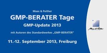GMP-BERATER Tage - GMP-Verlag