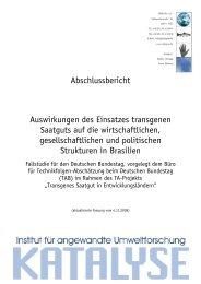 Abschlussbericht Auswirkungen des Einsatzes transgenen Saatguts ...