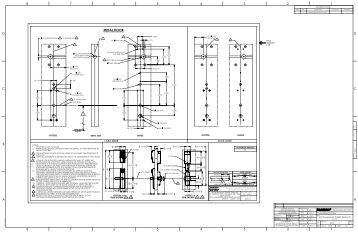 Manufacturer's Door Template for Passport 1000 P1 8200