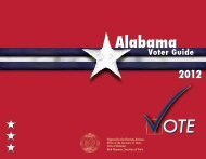 2012 Voter Guide - Secretary of State - Alabama.gov