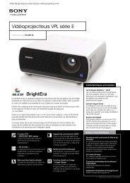Télécharger la fiche technique Sony VPL EW130 - Lampe ...