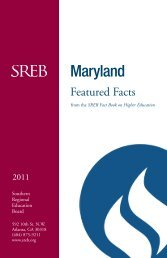 Maryland - Southern Regional Education Board