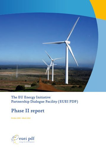 Phase II report - EUEI Partnership Dialogue Facility (PDF)