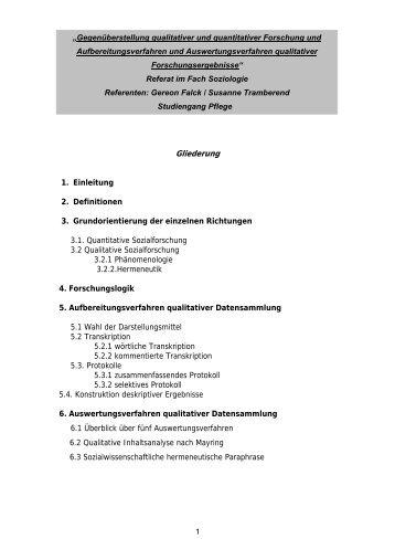 Gegenüberstellung qualitativer und quantitativer Forschung