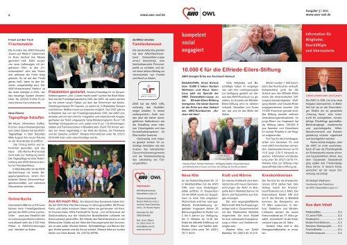 10.000 € für die Elfriede-Eilers-Stiftung - AWO