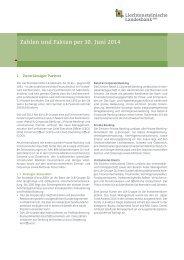 Zahlen und Fakten per 30. Juni 2012 - Liechtensteinische Landesbank