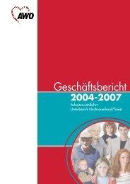 Geschäftsbericht 2004 - 2007 - AWO Westliches Westfalen