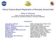 Robust feature-based registration of remotely sensed data - Image ...