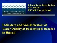 Indicators and non-indicators of water quality at recreational ...