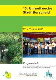 13. Umweltwoche Stadt Burscheid - Bergischer ...