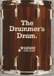 Page 1 Page 2 The Drummer's Drum In SONOR