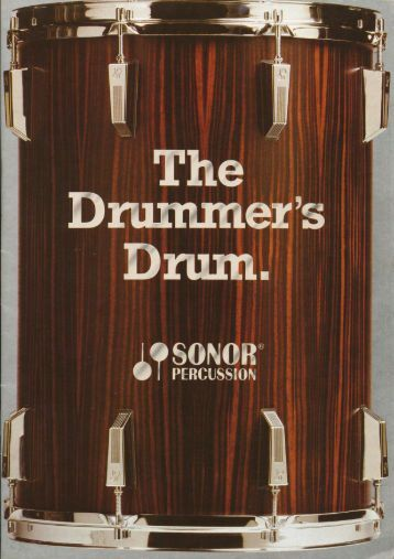 """Page 1 Page 2 The Drummer's Drum In SONOR """"The Drummers ..."""