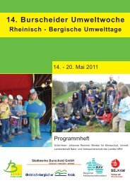 14. Burscheider Umweltwoche - Rheinisch-Bergischer Kreis